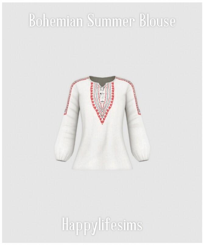 Bohemian Summer Blouse at Happy Life Sims image 2068 670x804 Sims 4 Updates