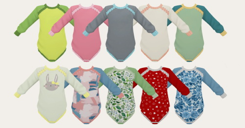 Sims 4 Stitched Onesie Recolor at Simiracle