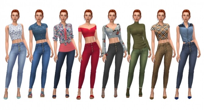 Sims 4 EP08 BUTTONED JEANS at Sims4Sue