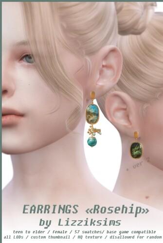 Rosehip earrings 2 versions