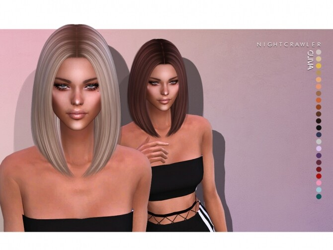 Sims 4 Olivia HAIR by Nightcrawler Sims at TSR