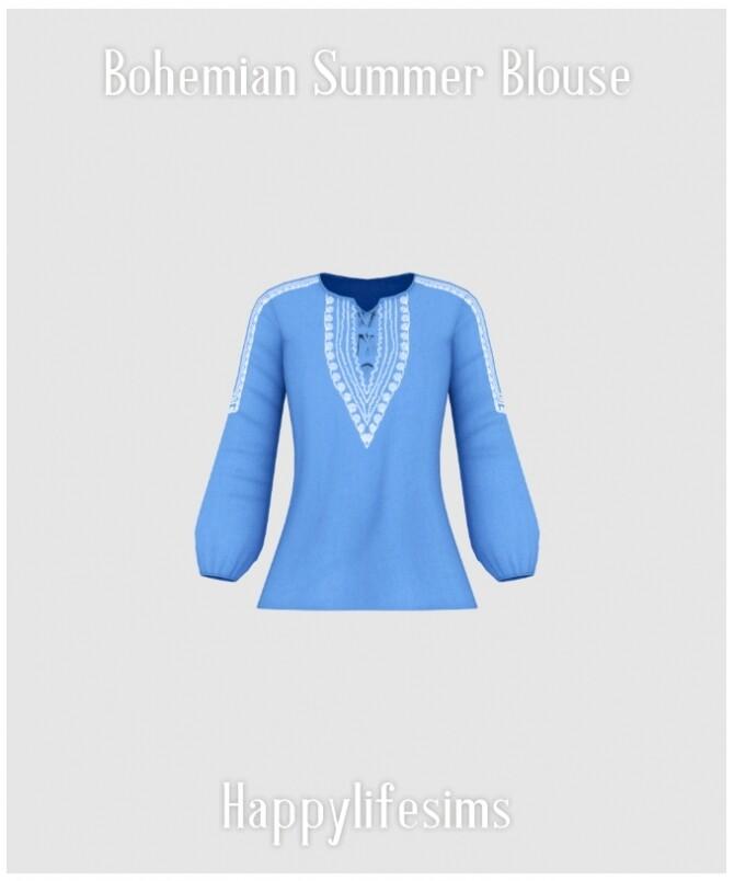 Bohemian Summer Blouse at Happy Life Sims image 2097 670x804 Sims 4 Updates