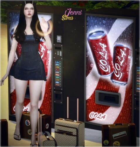 Suitcases soda machine 3 ITEMS