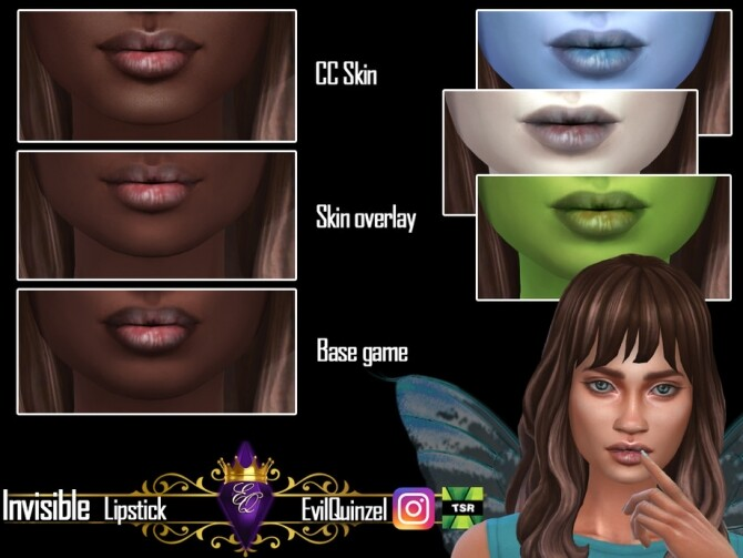 Sims 4 Invisible Lipstick by EvilQuinzel at TSR