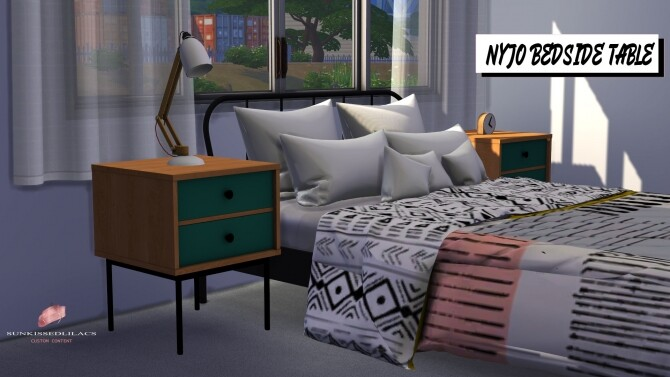 Sims 4 Nyjo bedside table at Sunkissedlilacs