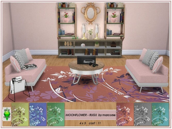 Moonflower rugs by marcorse