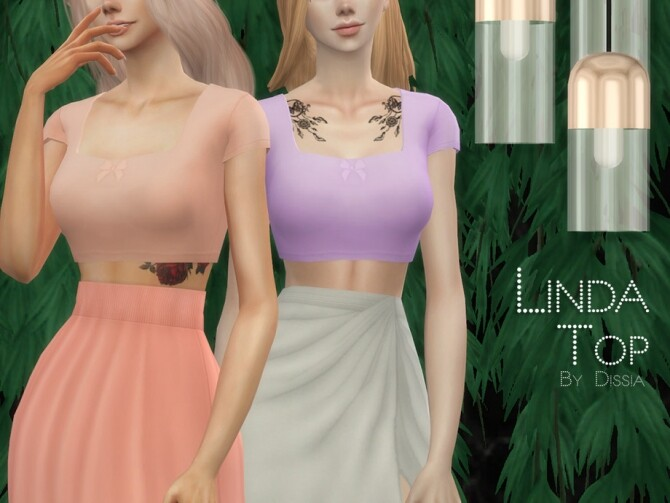 Sims 4 Linda Top by Dissia at TSR