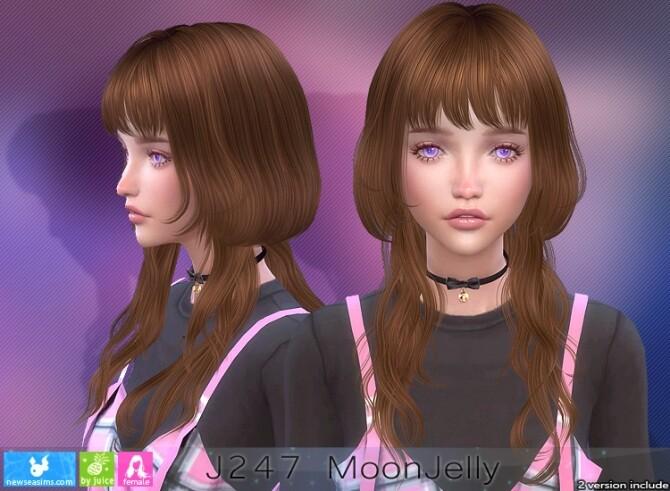 Sims 4 J247 Moonjelly hair (P) at Newsea Sims 4