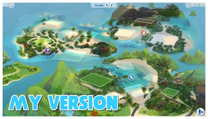 Sims 4 Sulani Realistic Map Override by OnverserSims at Mod The Sims