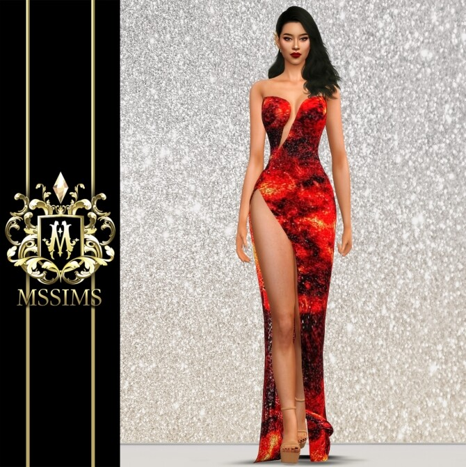 LAVA GOWN at MSSIMS image 2192 670x671 Sims 4 Updates
