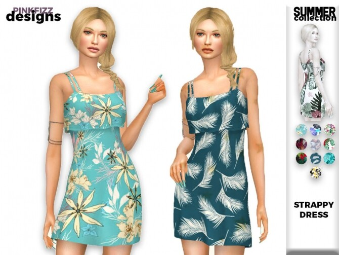Summer Strappy Dress PF153 by Pinkfizzzzz at TSR image 2218 670x503 Sims 4 Updates