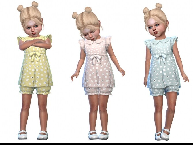 Two Piece Dress for Toddler Girls 01 by Little Things at TSR image 2220 670x503 Sims 4 Updates