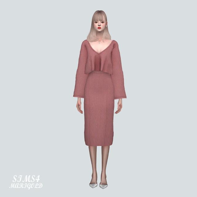 Sims 4 Knit 2 Piece at Marigold