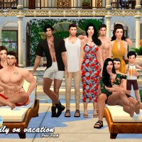 Family on Vacation Pose Pack by Beto_ae0
