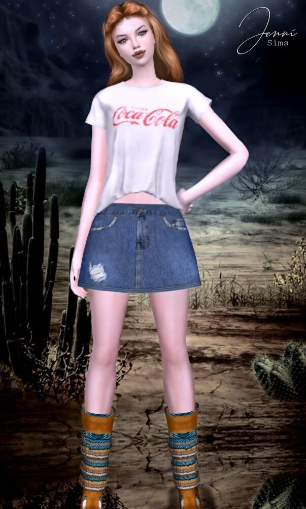 Denim skirt, Shorts 17 SWATCHES at Jenni Sims image 2307 603x1000 Sims 4 Updates