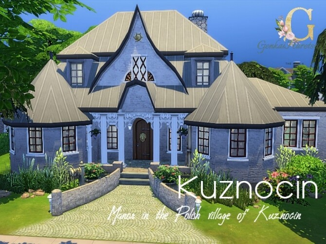 Sims 4 Kuznocin manor by GenkaiHaretsu at TSR