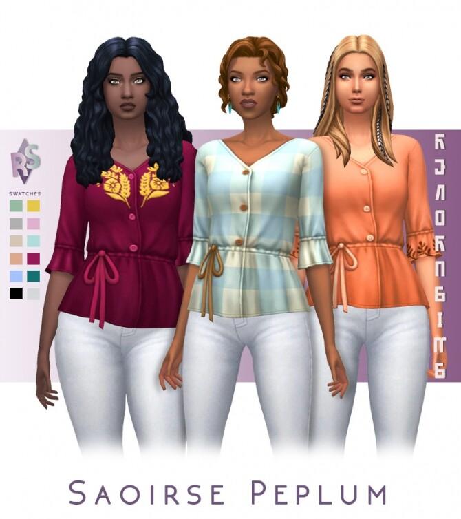 Sims 4 Saoirse Peplum Top at RENORASIMS