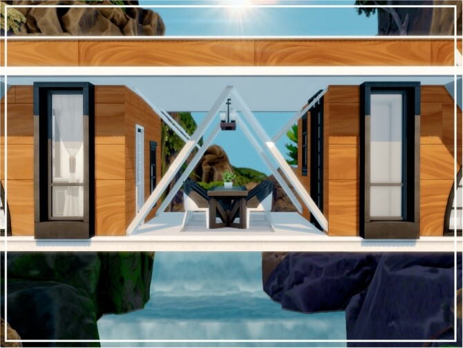 Sims 4 Modern Mountain House by Mini Simmer at TSR