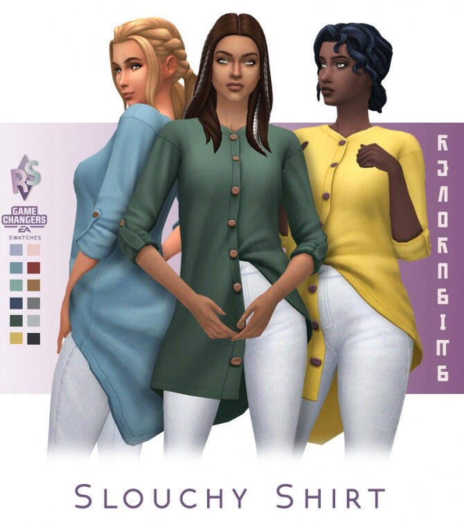 Slouchy Shirt at RENORASIMS image 23310 670x754 Sims 4 Updates