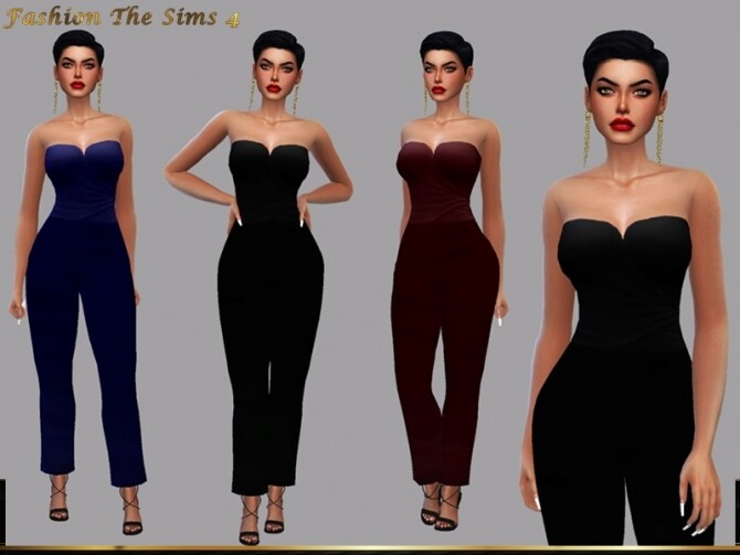Sims 4 Jumpsuit Teodora by LYLLYAN at TSR