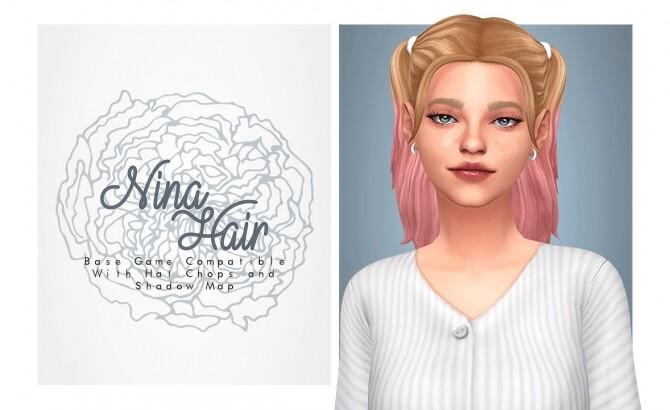 Sims 4 Nina Hair cute pigtails at Isjao