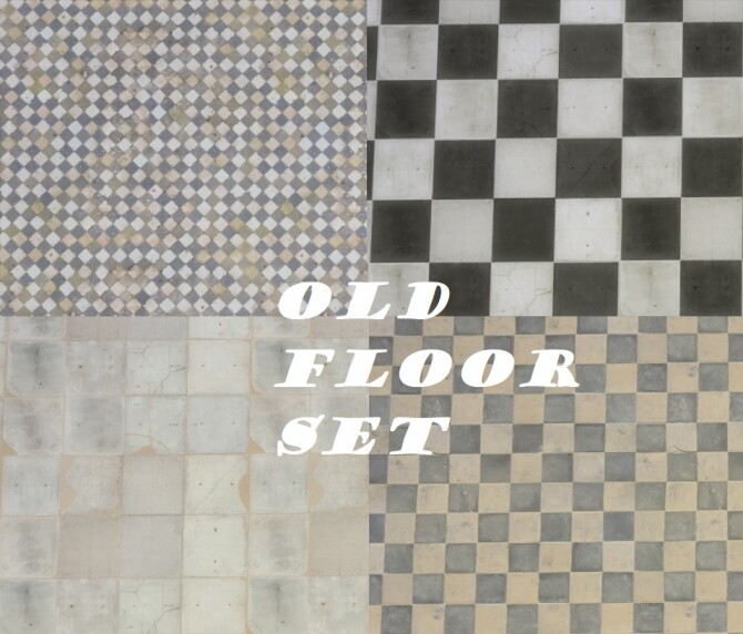 Sims 4 Old Floor Tile Set by Nutter Butter 1 at Mod The Sims