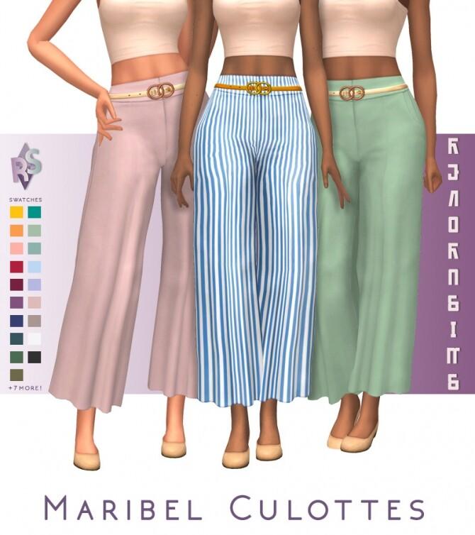 Sims 4 Maribel Culottes at RENORASIMS