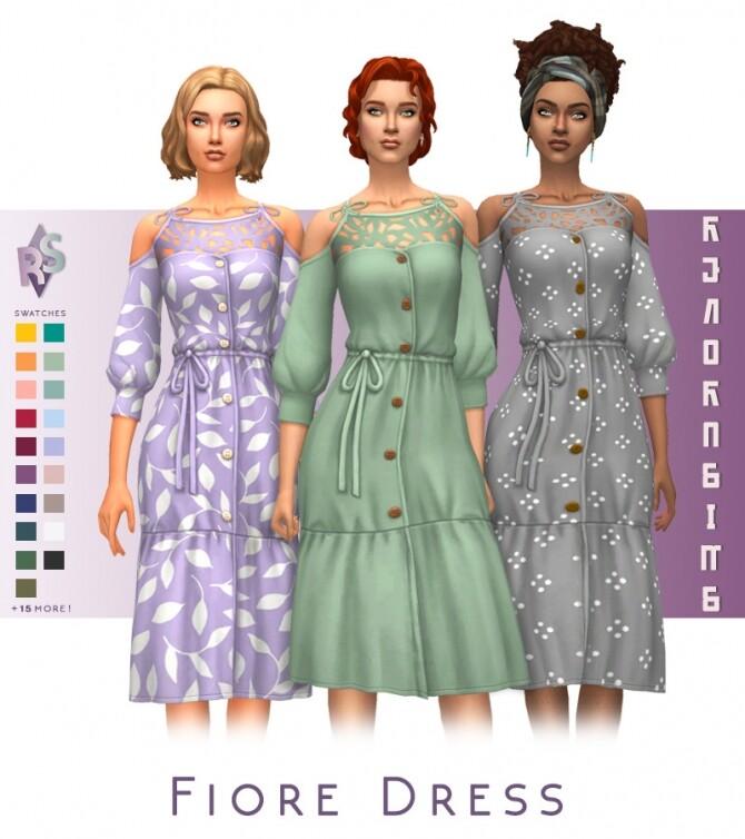 Sims 4 Fiore Dress at RENORASIMS