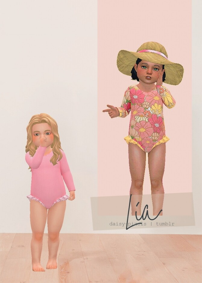 Lia Swimsuit at Daisy Pixels image 2362 670x936 Sims 4 Updates