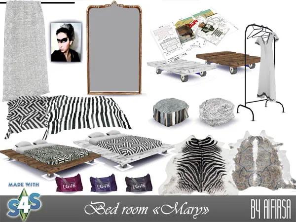 Sims 4 Mary bedroom at Aifirsa