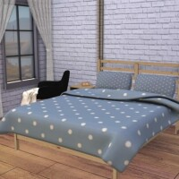 Tarva Bed with Blanket Pillow