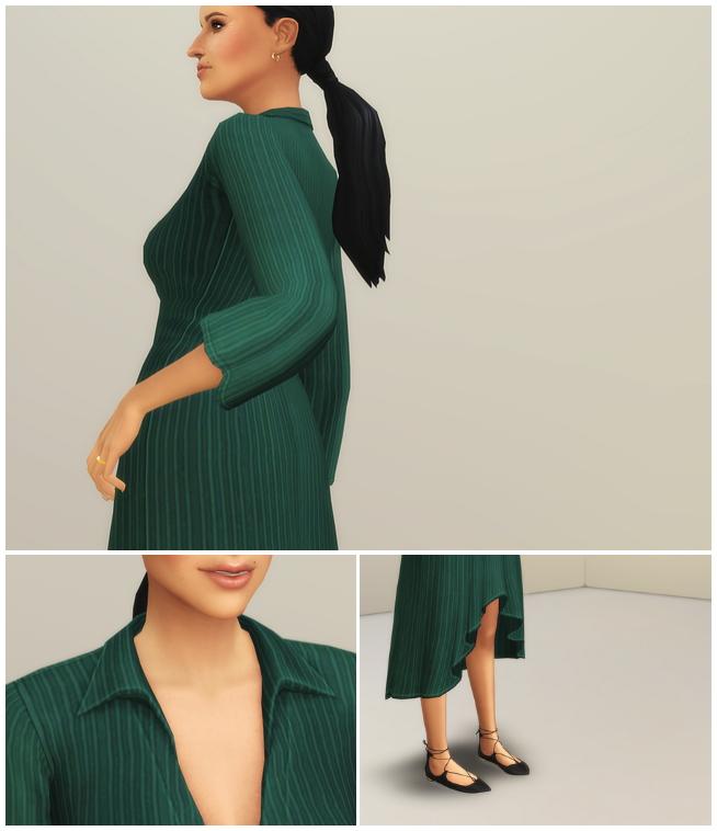 Sims 4 Summer Breeze Dress II Stripe at Rusty Nail