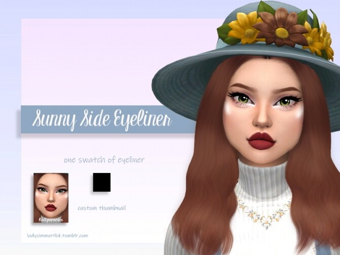 Sims 4 Sunny Side Eyeliner by LadySimmer94 at TSR