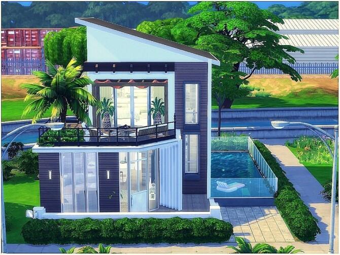 Sims 4 Corner House by lotsbymanal at TSR
