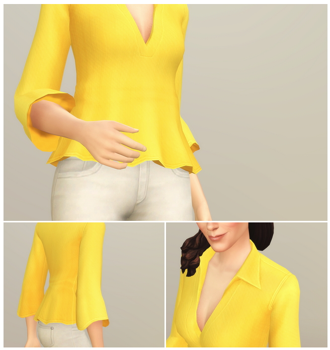 Summer Breeze Shirt I Solid at Rusty Nail image 2431 Sims 4 Updates