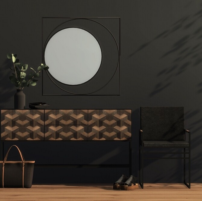 Illusion Sideboard, Barcelona Mirror & Crea Sella Dining Chair at Heurrs image 2433 670x667 Sims 4 Updates