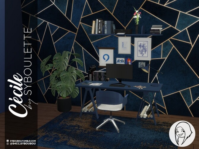 Sims 4 Cecile Office Set by Syboubou at TSR