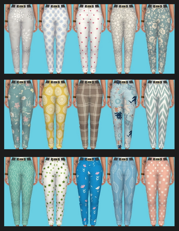 Nifty Knitting Jeans Recolors at Annett's Sims 4 Welt image 2442 Sims 4 Updates