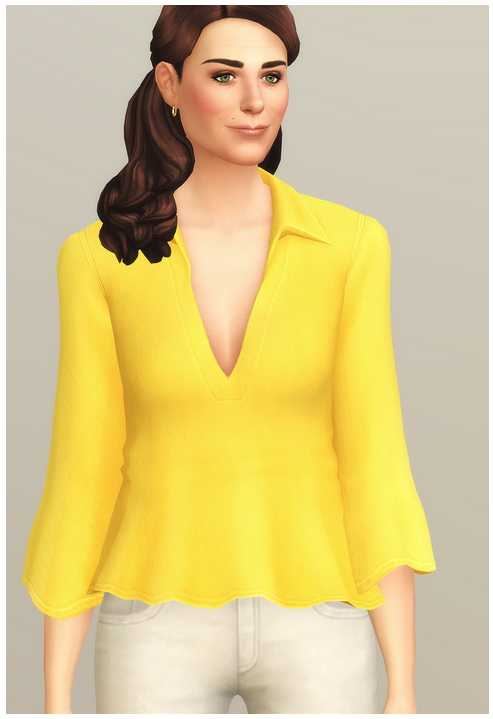Summer Breeze Shirt I Solid at Rusty Nail image 2451 Sims 4 Updates