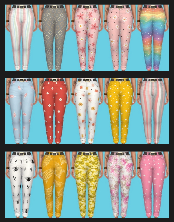 Nifty Knitting Jeans Recolors at Annett's Sims 4 Welt image 2452 Sims 4 Updates