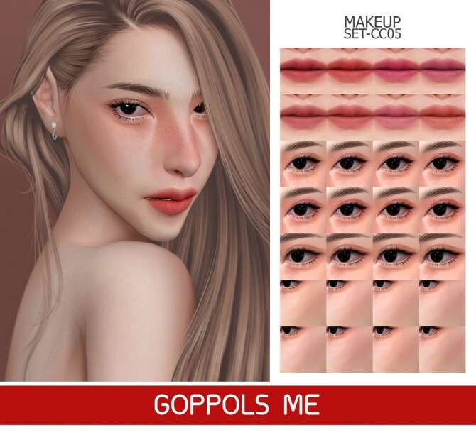 Sims 4 GPME GOLD MAKEUP SET CC05 at GOPPOLS Me