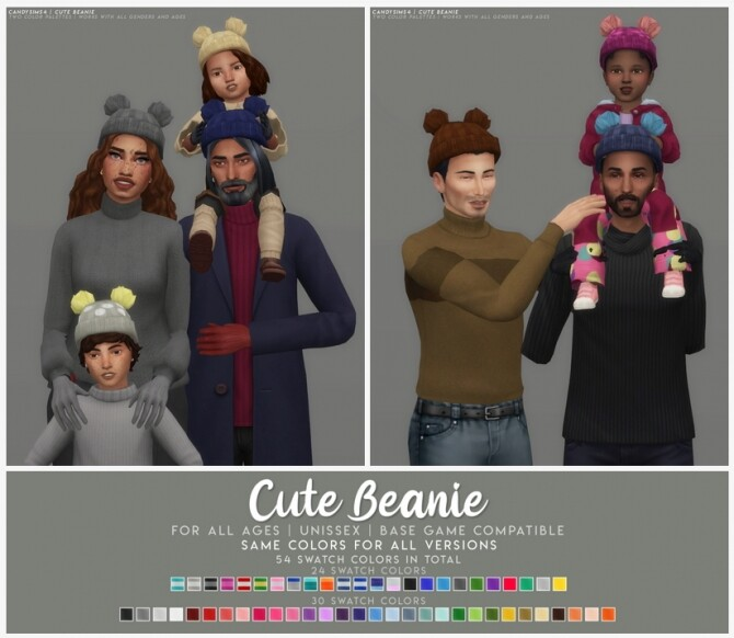 CUTE BEANIE at Candy Sims 4 image 2472 670x582 Sims 4 Updates