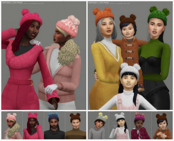 CUTE BEANIE at Candy Sims 4 image 2482 670x544 Sims 4 Updates