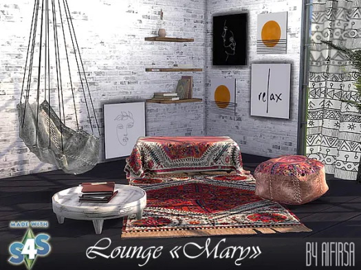 Sims 4 Lounge Mary Update 2020 at Aifirsa
