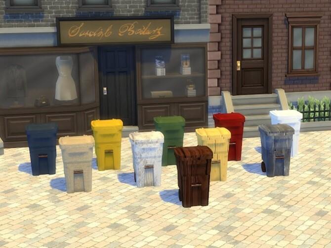 Sims 4 Trash and Garbage bins at KyriaT's Sims 4 World