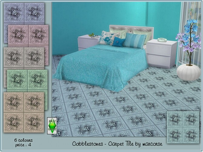 Sims 4 Cobblestones Carpet Tiles by marcorse at TSR