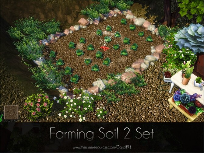 Sims 4 Farming Soil 2 Set by Caroll91 at TSR