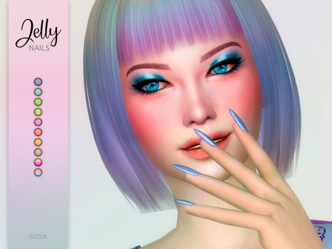 Jelly Nails by Suzue at TSR image 2514 670x503 Sims 4 Updates