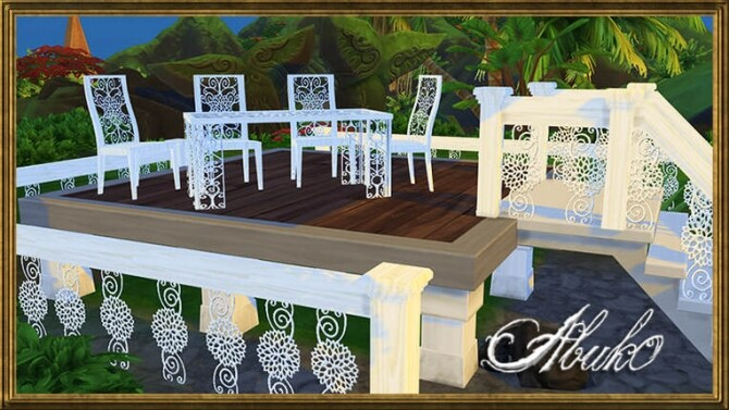 Maluwa Flower chair table fence railing