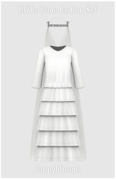 Sims 4 1920s Wedding Fashion Set at Happy Life Sims